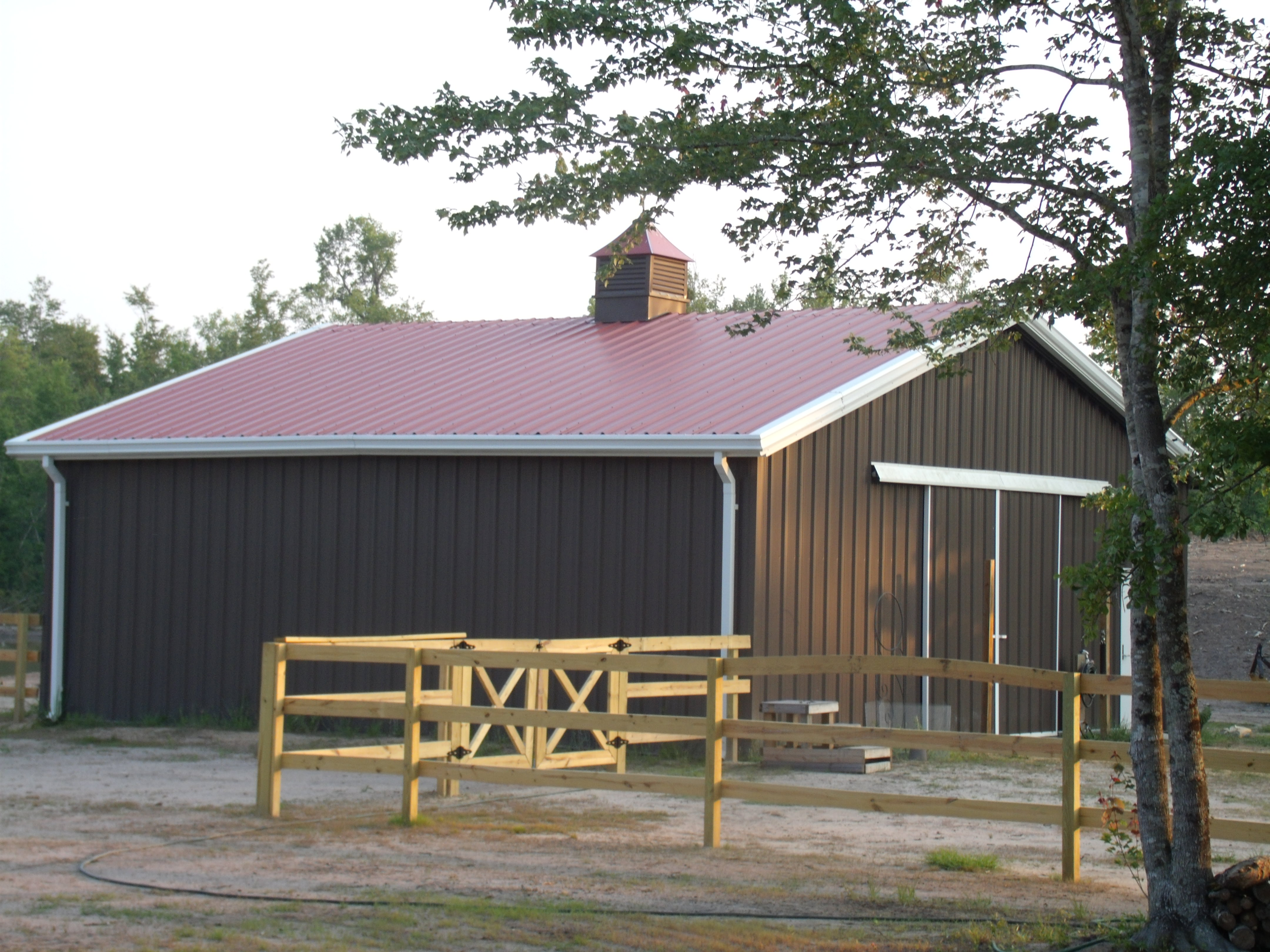 Metal prefabricated barns and stables in middleburg va for Metal barn construction