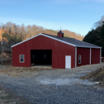 Red Metal Building in Ohio