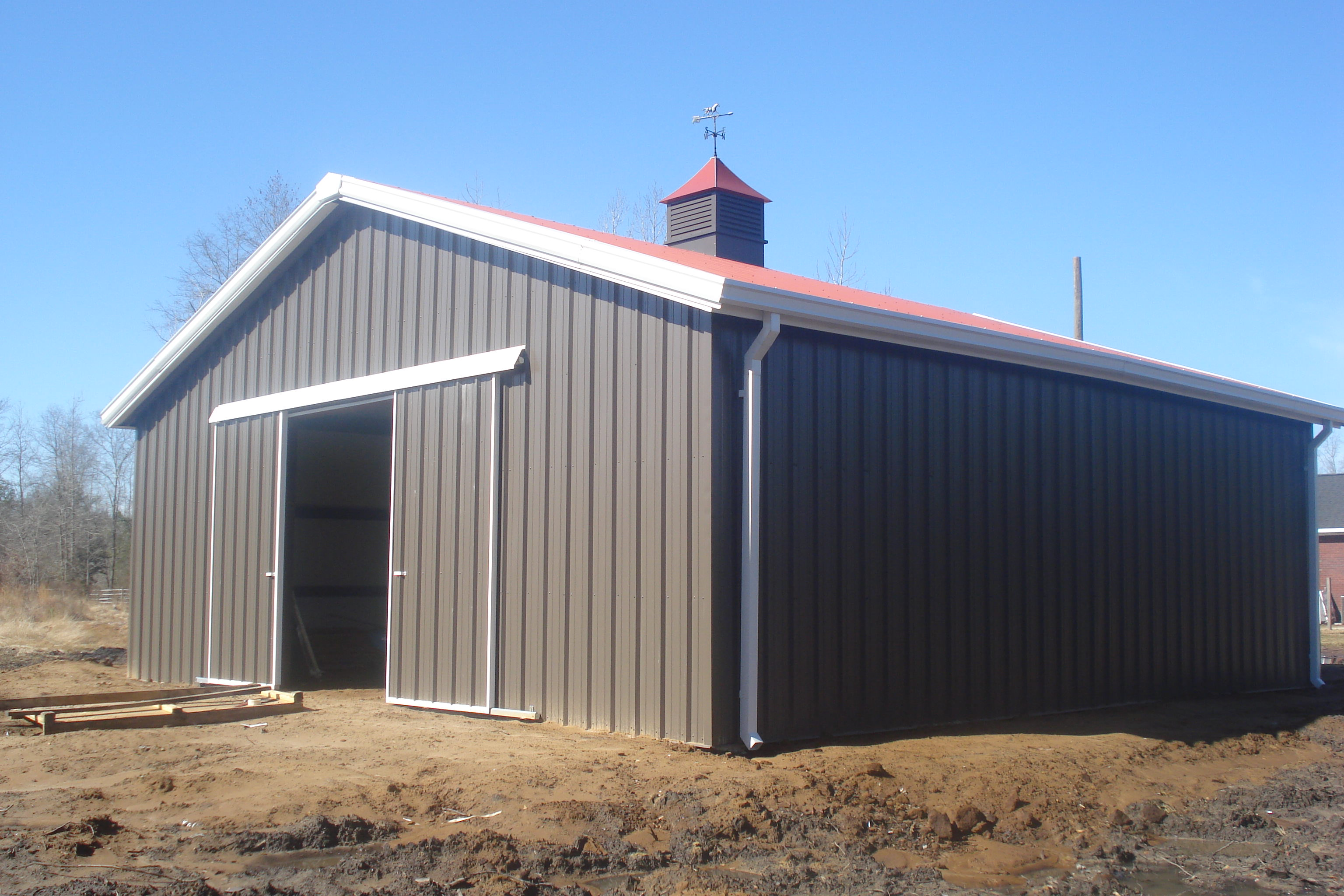 Metal and steel agricultural buildings champion buildings for Metal barn images