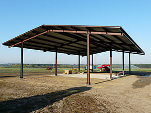 North Carolina Steel Farm Shelter