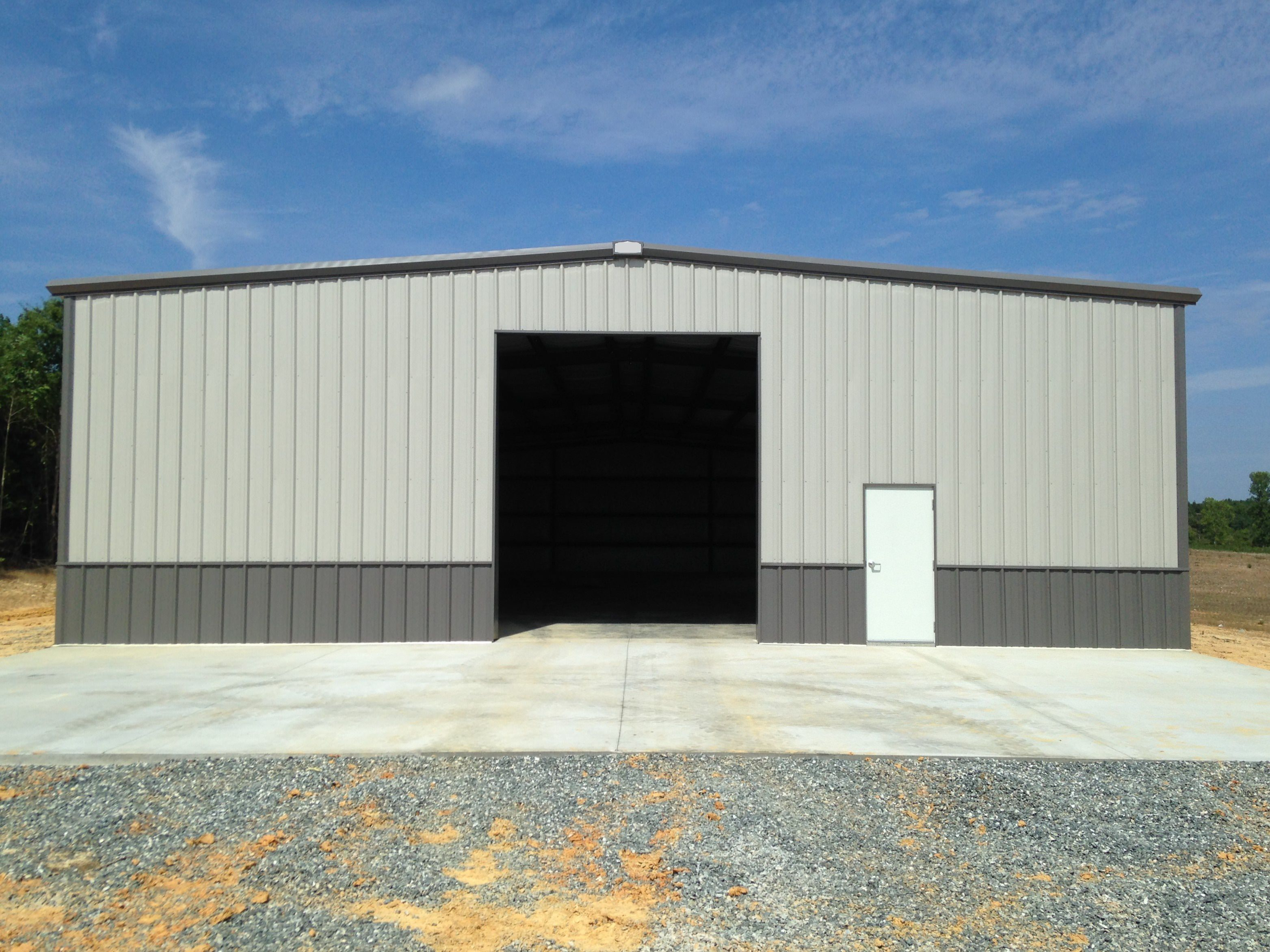 Commercial Steel Garages With An Overhand : Commercial metal buildings steel champion