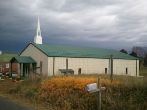 Pre-engineered steel and metal church building