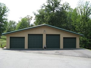 4 Door Metal Building